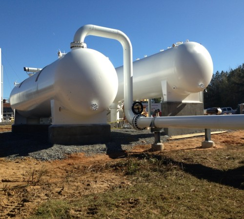 Inlet Slug Catcher & Liquid Storage Vessels at a Louisiana Compressor Station